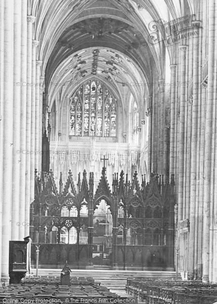 Photo of Winchester, Cathedral, The Choir Screen 1890