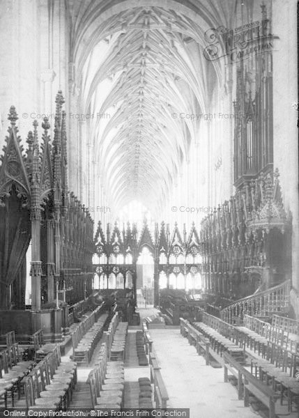 Photo of Winchester, Cathedral, The Choir West 1890