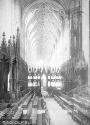 Winchester, Cathedral, The Choir West 1890