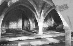 Winchester, Cathedral, The Crypt 1886