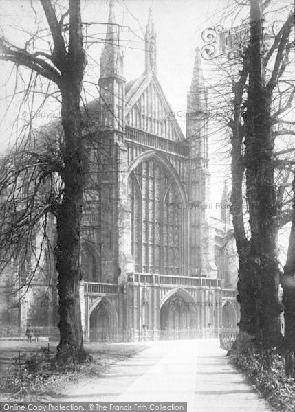 Photo of Winchester, Cathedral, West Front 1896