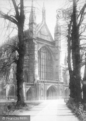 Winchester, Cathedral, West Front 1896