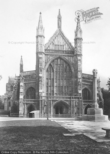 Photo of Winchester, Cathedral, West Front 1922