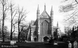 Winchester, Cathedral, West Front c.1900