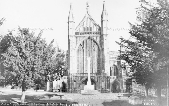 Photo of Winchester, Cathedral, West Front c.1960