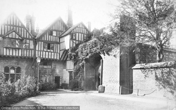 Photo of Winchester, Cheyney Court And The Priory Gate 1893