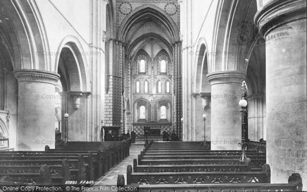 Photo of Winchester, Church Of St Cross, Nave East 1896