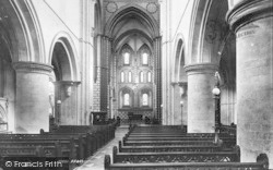 Winchester, Church Of St Cross, Nave East 1896
