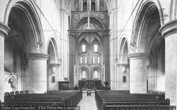 Photo of Winchester, Church Of St Cross, Nave East 1909