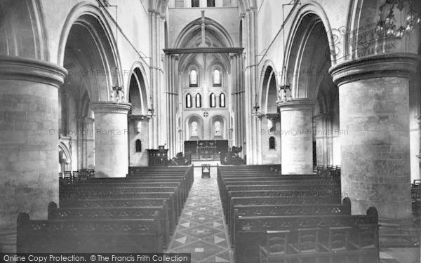 Photo of Winchester, Church Of St Cross, Nave East 1928