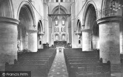 Winchester, Church Of St Cross, Nave East 1928