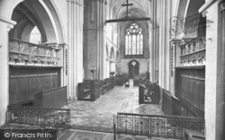 Winchester, Church Of St Cross, Nave West 1928