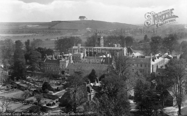Photo of Winchester, College From The Cathedral 1929