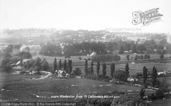 Photo of Winchester, From St Catherine's Hill 1899
