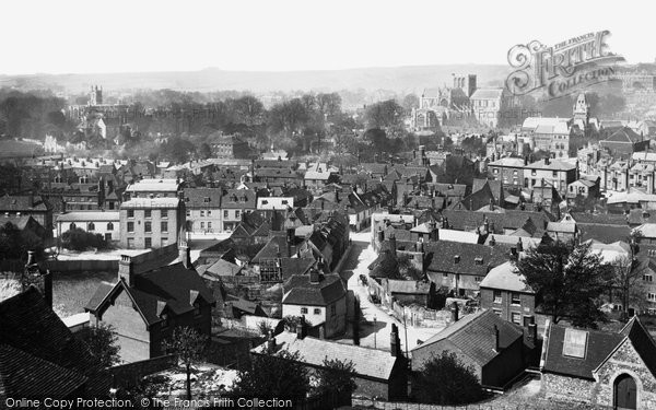 Photo of Winchester, From St Giles Hill 1886