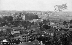 Winchester, From St Giles Hill 1893