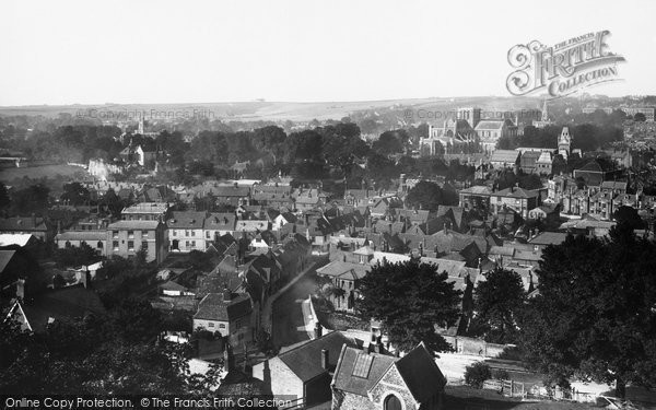 Photo of Winchester, From St Giles Hill 1893