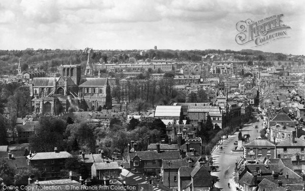 Photo of Winchester, From St Giles Hill 1929