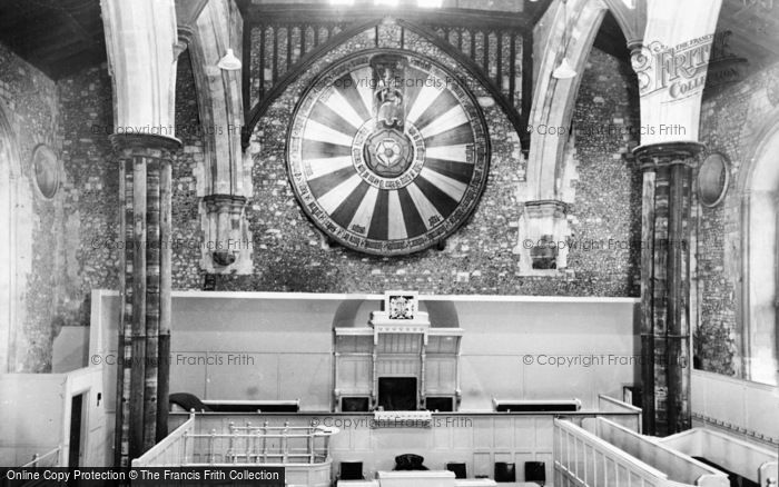 Photo of Winchester, Great Hall, King Arthur's Round Table c.1960