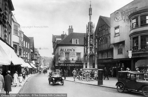 Photo of Winchester, High Street And Buttercross 1928