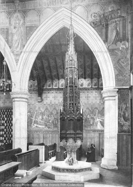 Photo of Winchester, Holy Trinity Church Font 1910
