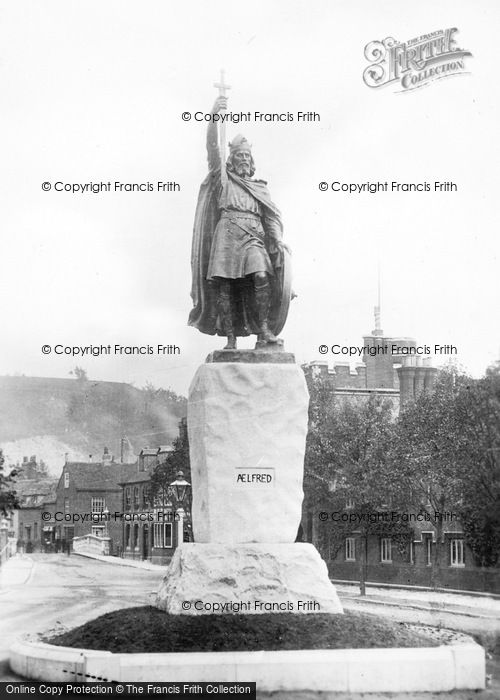 Photo of Winchester, King Alfred's Statue c.1910