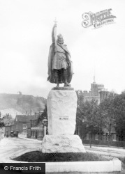 Winchester, King Alfred's Statue c.1910