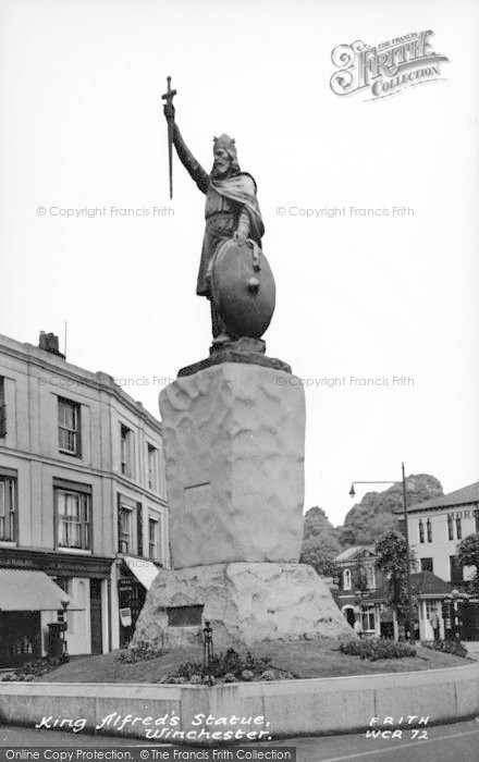 Photo of Winchester, King Alfred's Statue c.1960