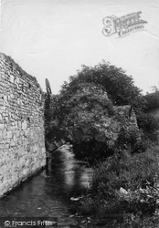Old Bridge Near King Alfred's Palace 1912, Winchester