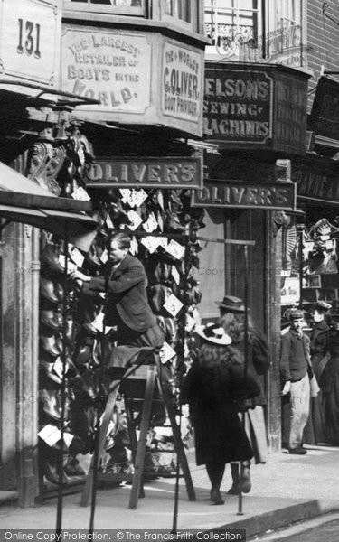 Photo of Winchester, Oliver's Shoe Shop, High Street 1896