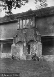 Winchester, St Cross, Ambulatory, Oriel Window 1909