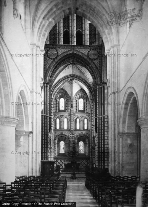 Photo of Winchester, St Cross Church Interior 1886