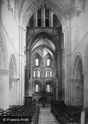 Winchester, St Cross Church Interior 1886
