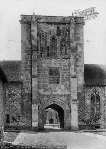 Photo of Winchester, St Cross Hospital, Beaufort Tower 1906