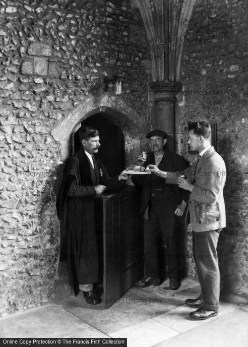 Winchester, St Cross Hospital, The Wayfarer's Dole 1928