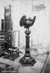Winchester, St Cross, Oak Lectern (1509) 1909