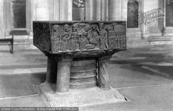 Photo of Winchester, The Cathedral, The Font 1890