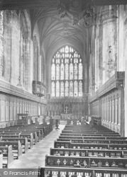 Winchester, The College Chapel 1919