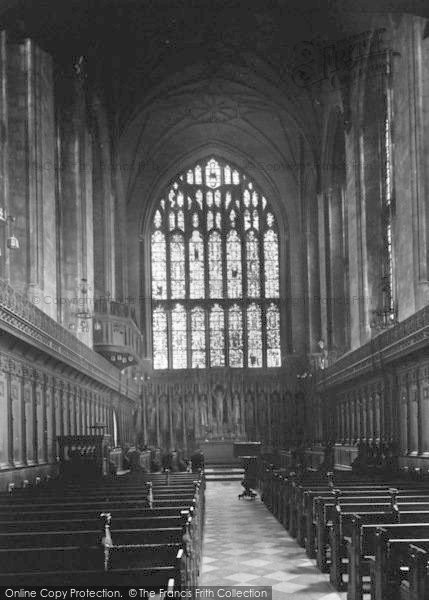 Photo of Winchester, The College Chapel Interior 1936
