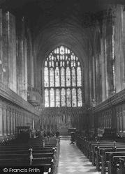 Winchester, The College Chapel Interior 1936
