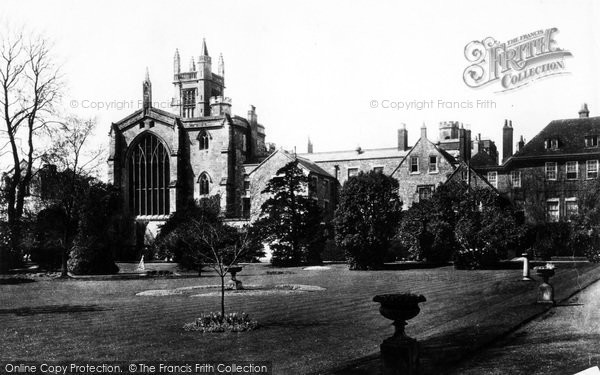 Photo of Winchester, The College From Warden's Ground 1886