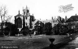 Winchester, The College From Warden's Ground 1886