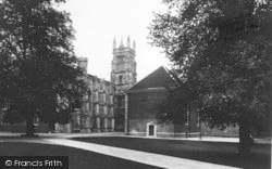 Winchester, The College School And Chapel Tower 1936