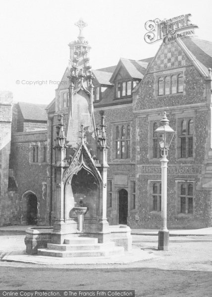 Photo of Winchester, The Drinking Fountain 1896