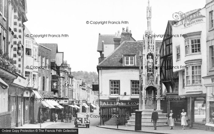 Photo of Winchester, The Prentice And City Cross c.1955