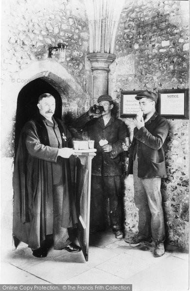 Photo of Winchester, Wayfarer's Dole, St Cross Hospital 1906