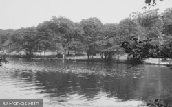 Winchmore Hill, The Lake, Grovelands Park c.1955