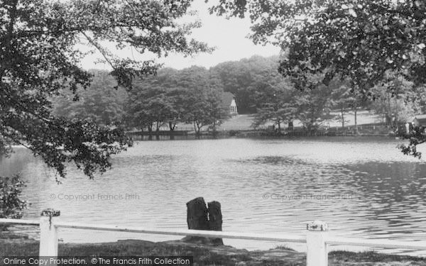 Photo of Winchmore Hill, The Lake, Grovelands Park c.1955