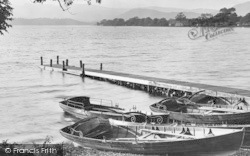 Windermere, Boats At Miller Ground 1926