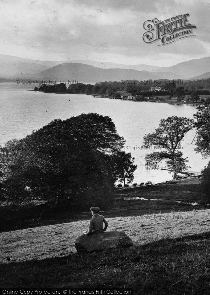 Photo of Windermere, Boy On Queen Adelaide Hill 1926
